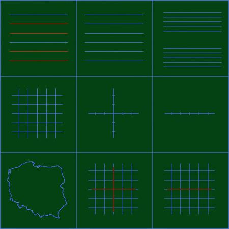 Liniatura na tablicach zielonych, typu A (cena za 1 m2)