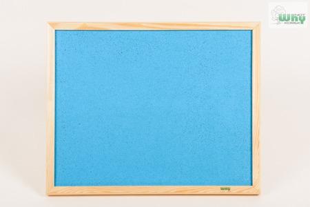 Tablica korkowa barwiona w ramie drewnianej 40x30 cm