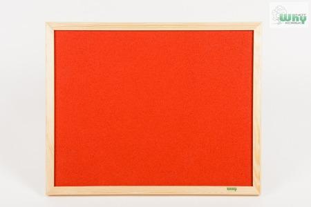 Tablica korkowa barwiona w ramie drewnianej 50x100 cm