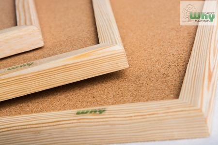 Tablica korkowa w ramie drewnianej 60x70 cm