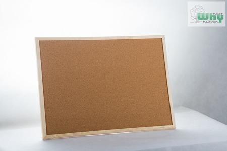 Tablica korkowa w ramie drewnianej 90x120 cm