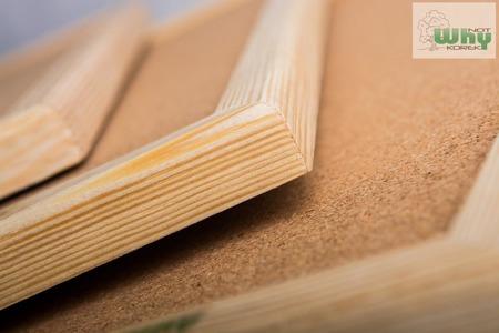 Tablica korkowa w ramie drewnianej 90x150 cm