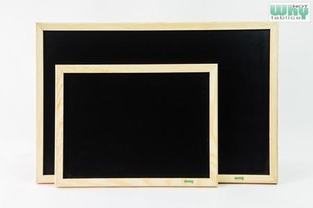 Tablica kredowa czarna w ramie drewnianej 50x70 cm