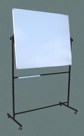 Tablica magnetyczno-suchościeralna w ramie aluminiowej 100x120 cm na stojaku biała
