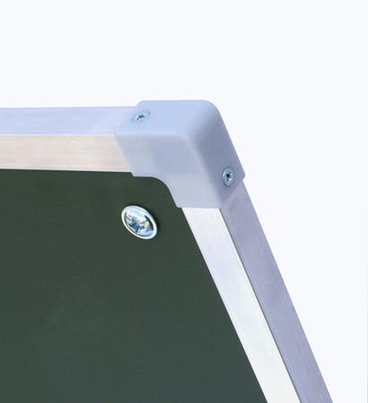Tablica magnetyczno-suchościeralna w ramie aluminiowej 100x120 cm na stojaku biało-zielona