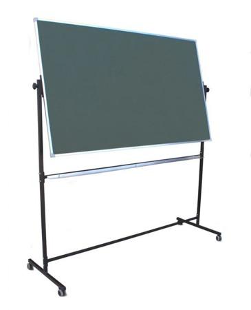 Tablica magnetyczno-suchościeralna w ramie aluminiowej 100x170 cm na stojaku zielona