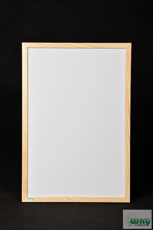 Tablica magnetyczno-suchościeralna w ramie drewnianej 60x90 cm